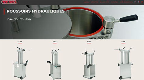 Talsa | poussoirs hydrauliques